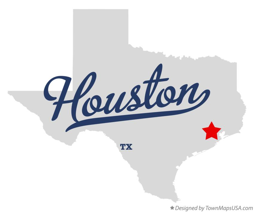 Map Of Houston Tx Texas