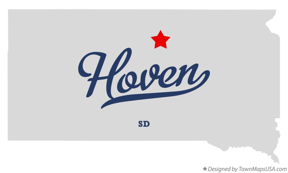Map of Hoven South Dakota SD