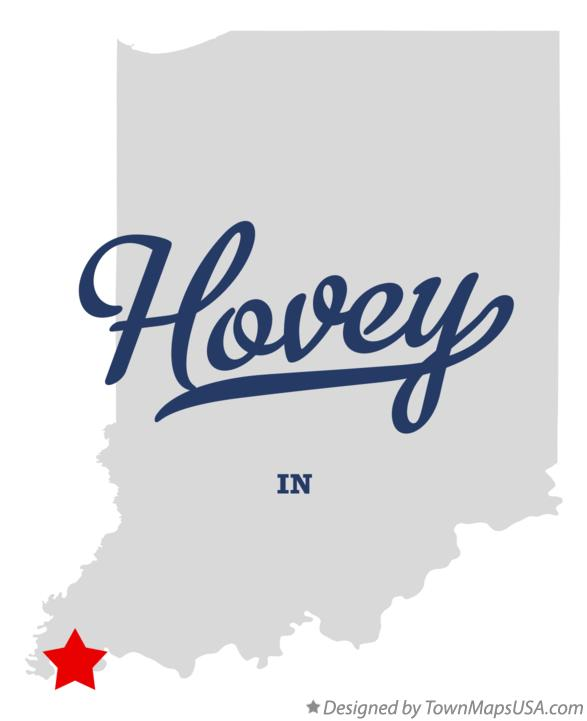 Map of Hovey Indiana IN
