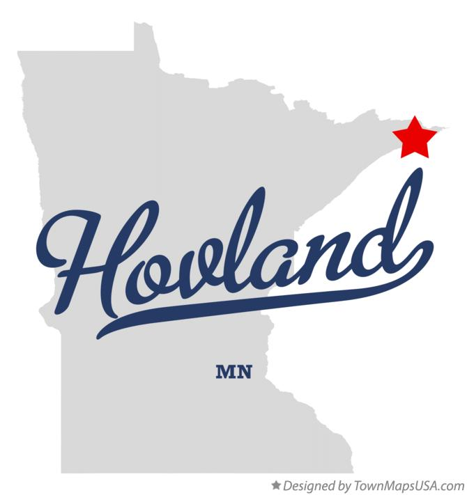 Map of Hovland Minnesota MN