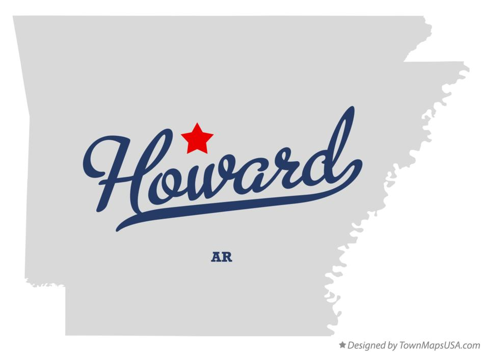Map of Howard Arkansas AR