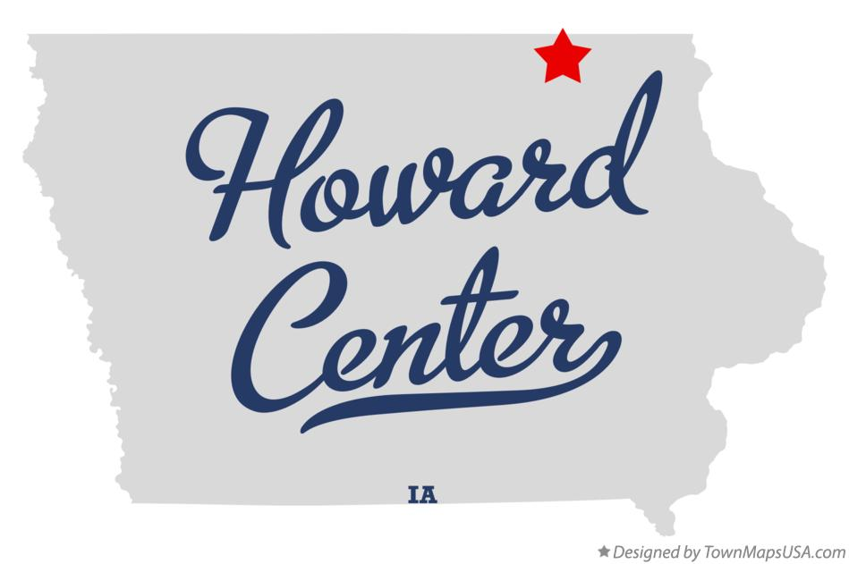 Map of Howard Center Iowa IA