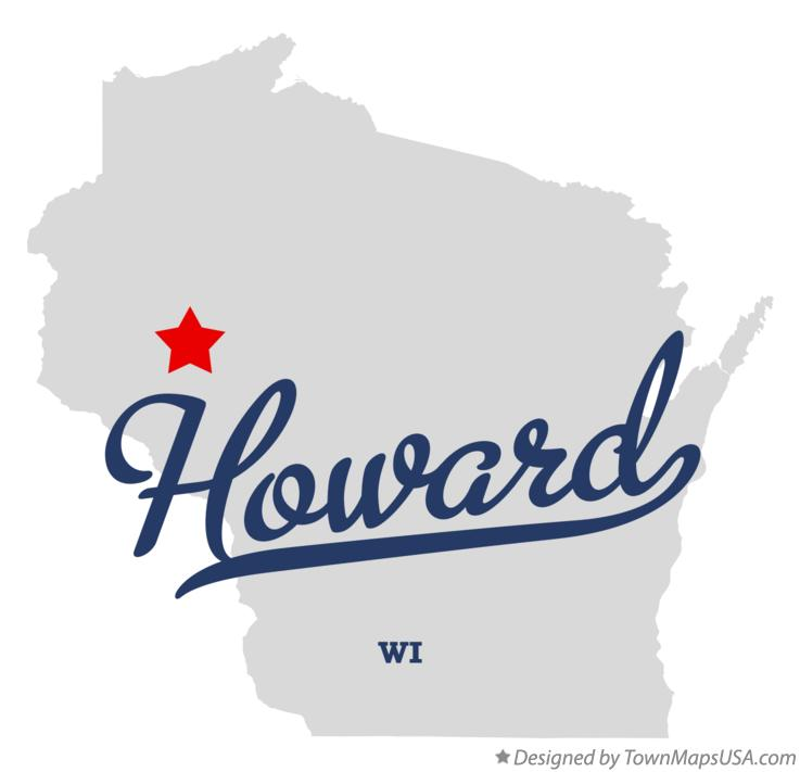 Map of Howard Wisconsin WI