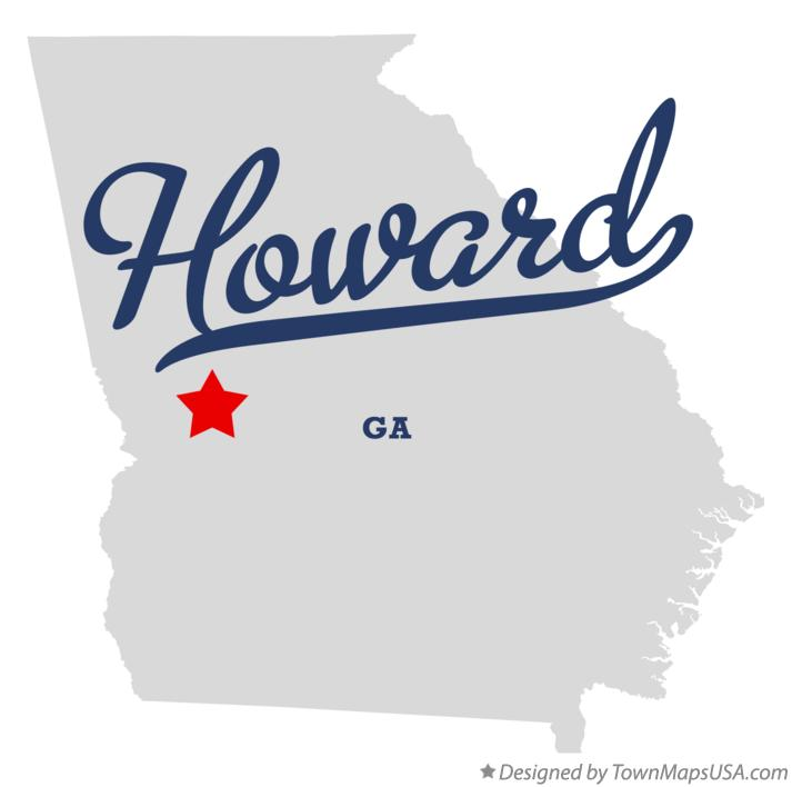 Map of Howard Georgia GA