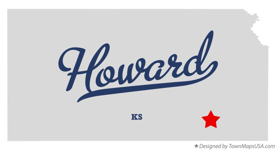 Map of Howard Kansas KS