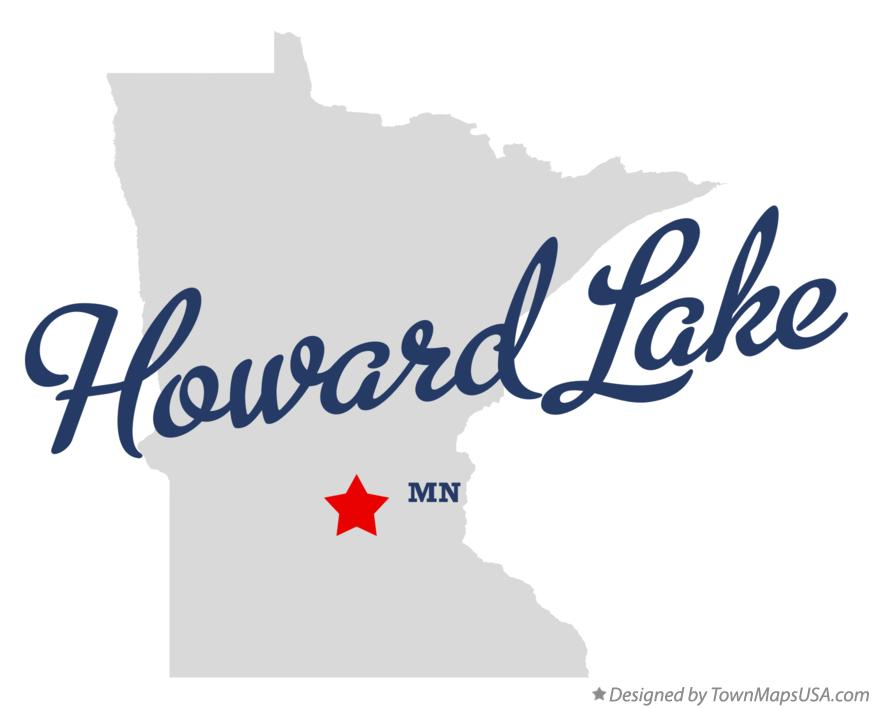 Map of Howard Lake Minnesota MN