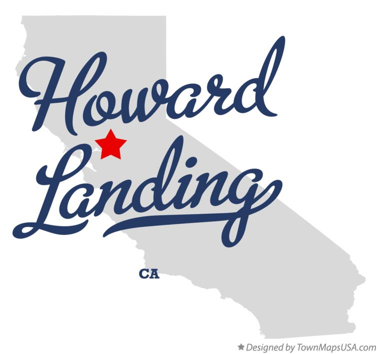 Map of Howard Landing California CA