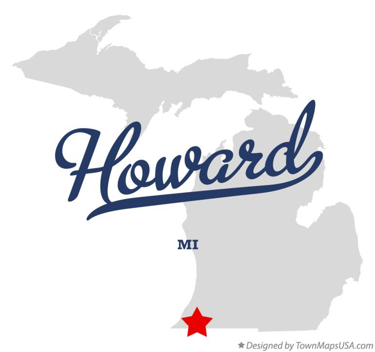 Map of Howard Michigan MI