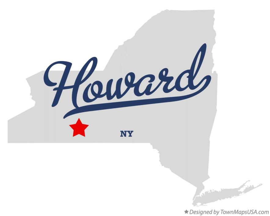 Map of Howard New York NY