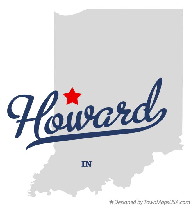 Map of Howard Indiana IN