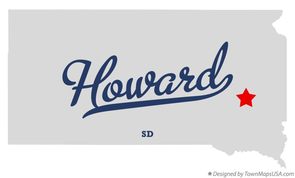 Map of Howard South Dakota SD