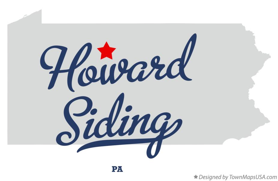 Map of Howard Siding Pennsylvania PA