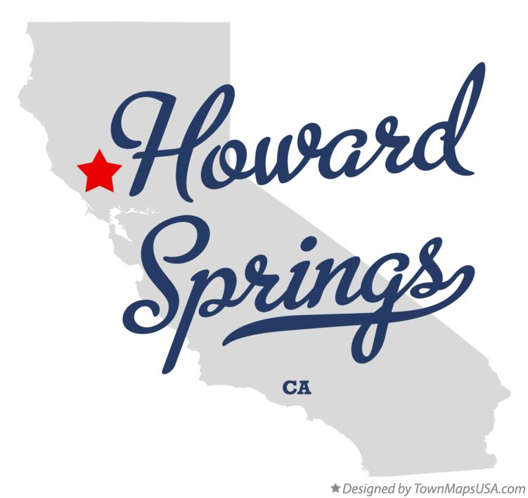 Map of Howard Springs California CA