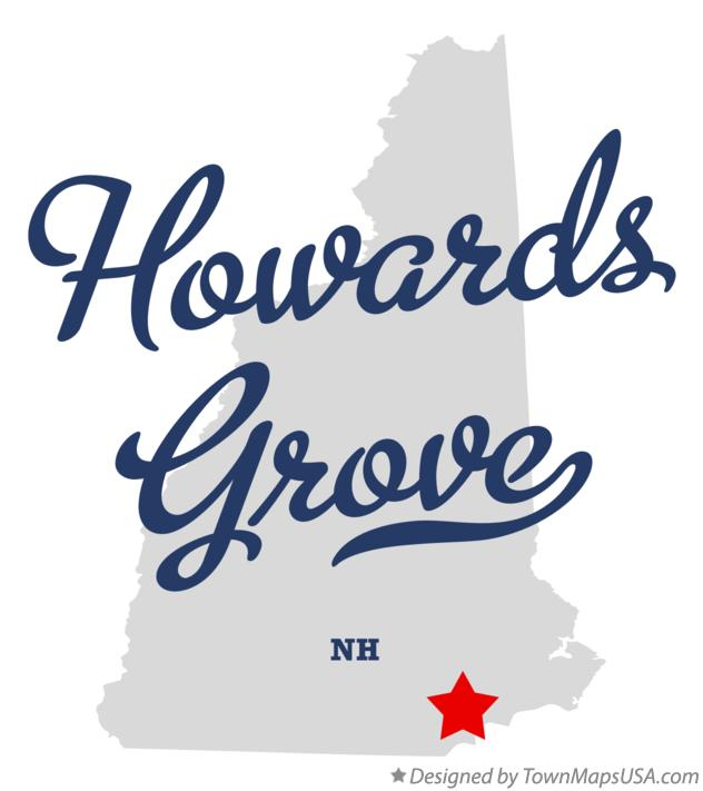 Map of Howards Grove New Hampshire NH