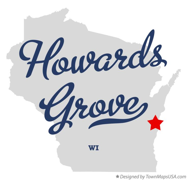 Map of Howards Grove Wisconsin WI