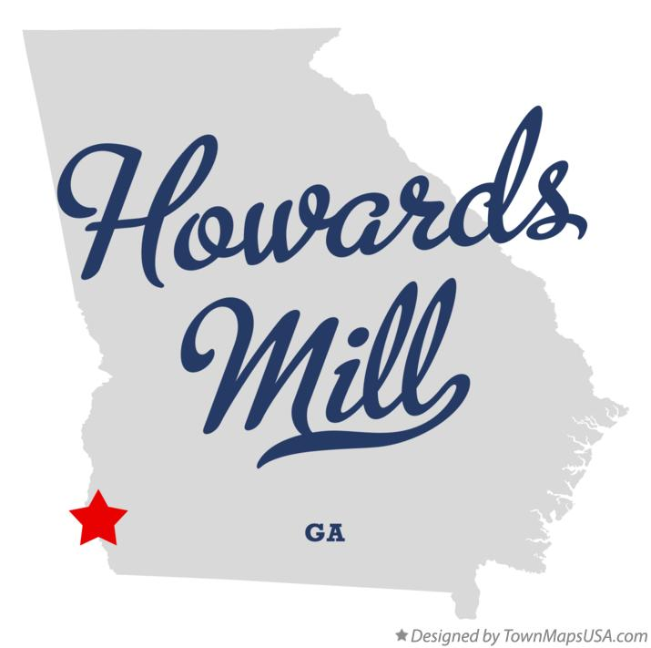 Map of Howards Mill Georgia GA