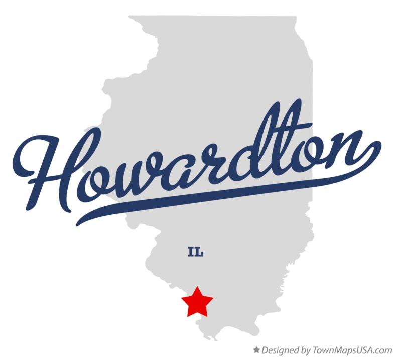 Map of Howardton Illinois IL