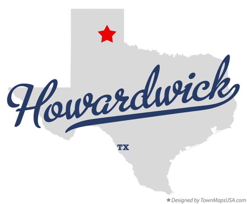 Map of Howardwick Texas TX