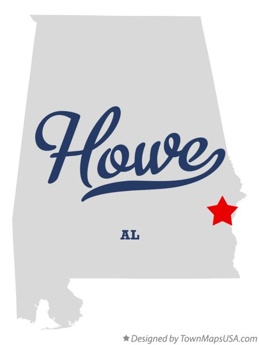 Map of Howe Alabama AL