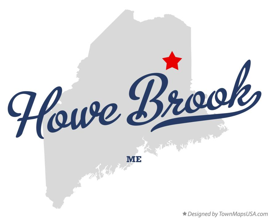 Map of Howe Brook Maine ME