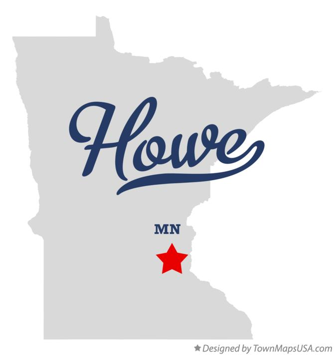 Map of Howe Minnesota MN