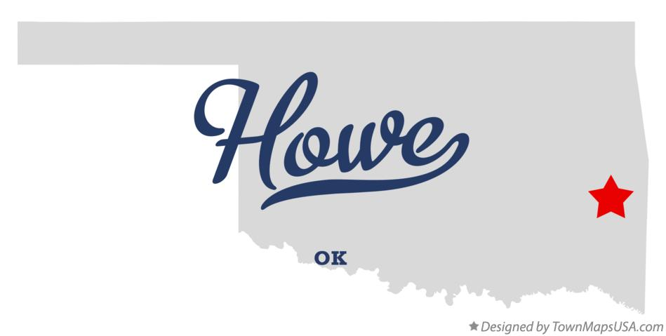 Map of Howe Oklahoma OK