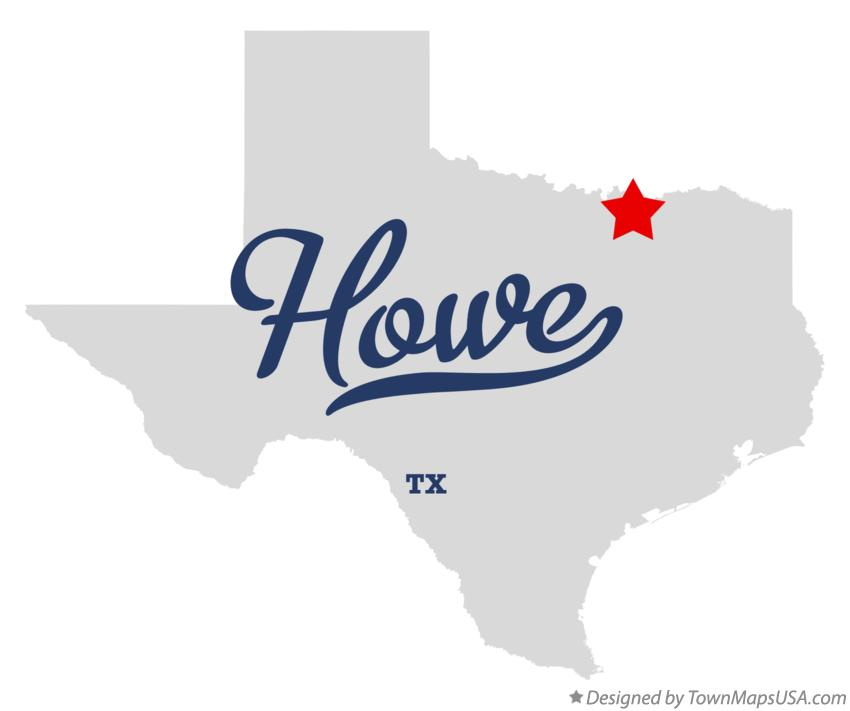 Map of Howe Texas TX
