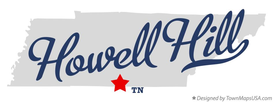 Map of Howell Hill Tennessee TN