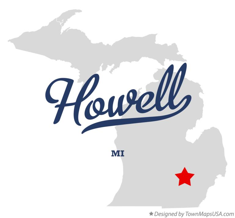 Map of Howell Michigan MI
