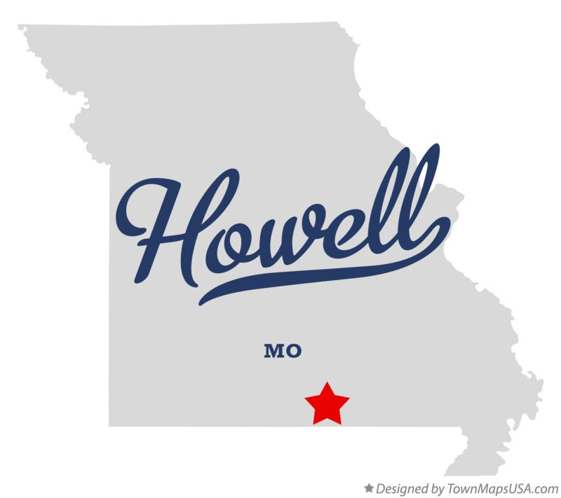 Map of Howell Missouri MO