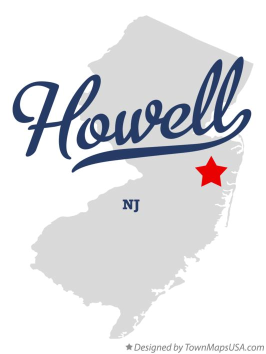 Map of Howell New Jersey NJ