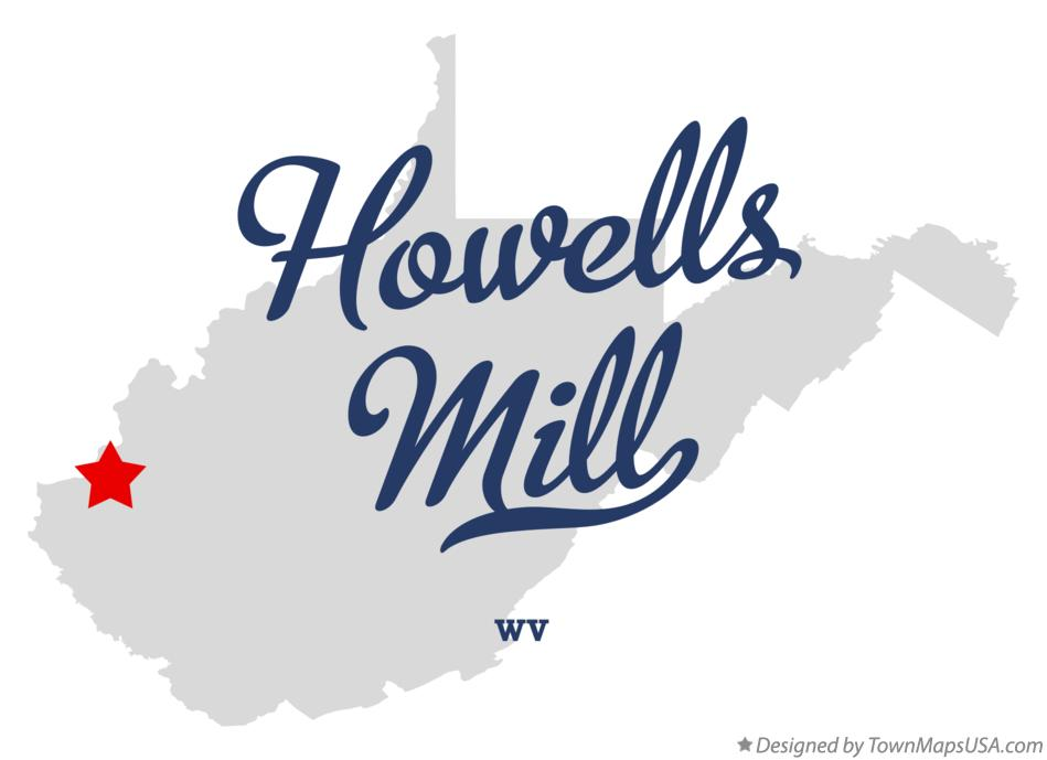 Map of Howells Mill West Virginia WV