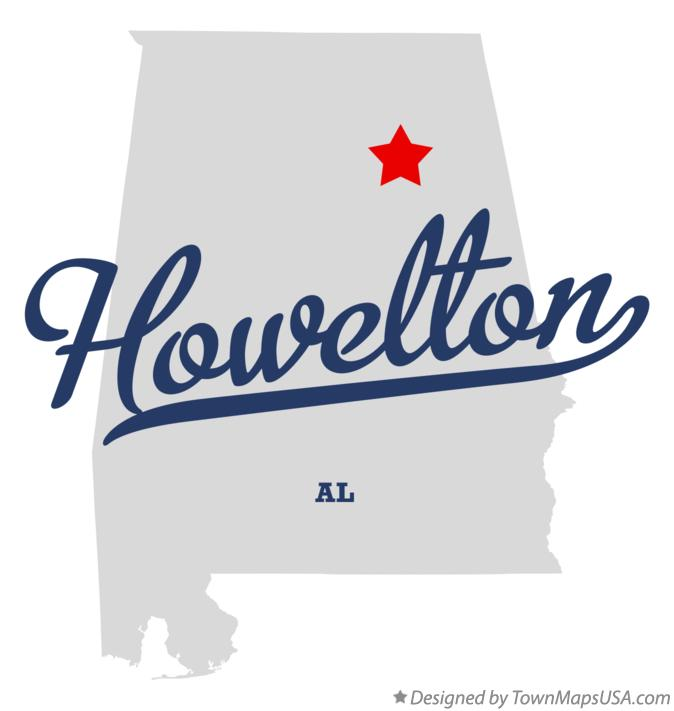 Map of Howelton Alabama AL