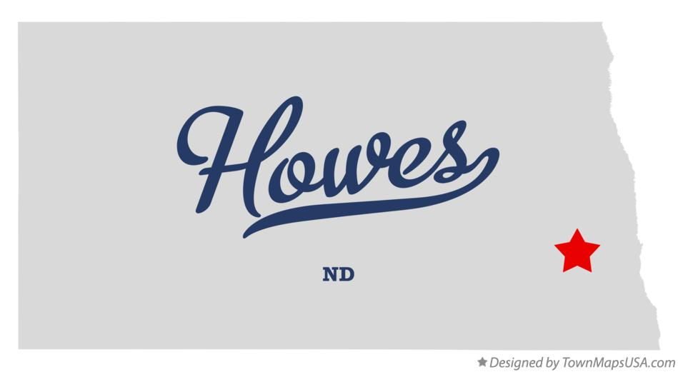 Map of Howes North Dakota ND