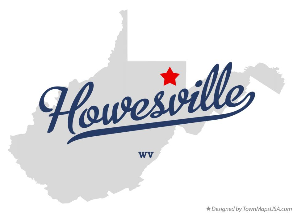 Map of Howesville West Virginia WV