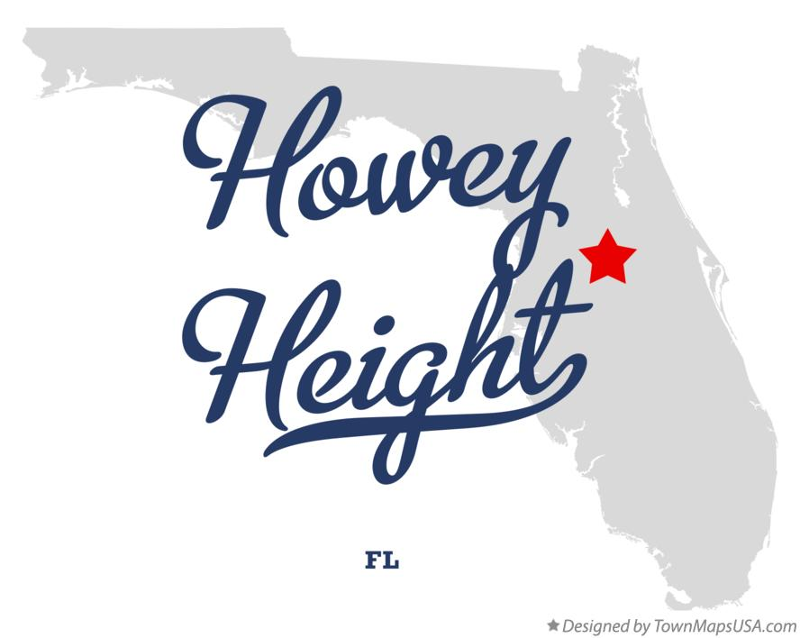 Map of Howey Height Florida FL