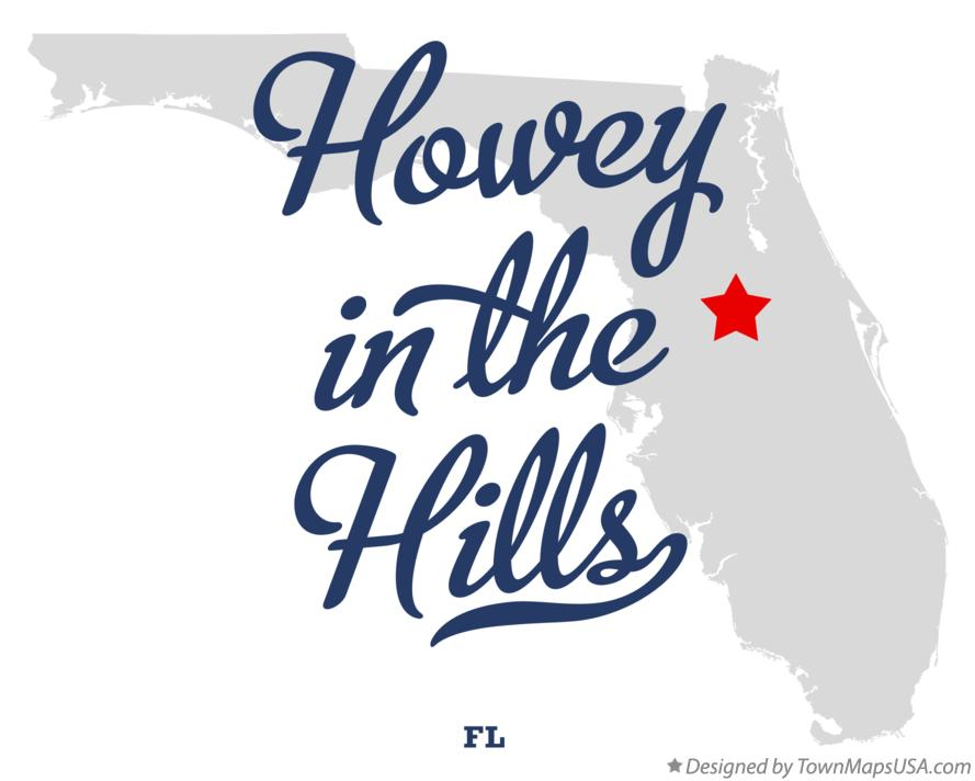 Map of Howey-in-the-Hills Florida FL