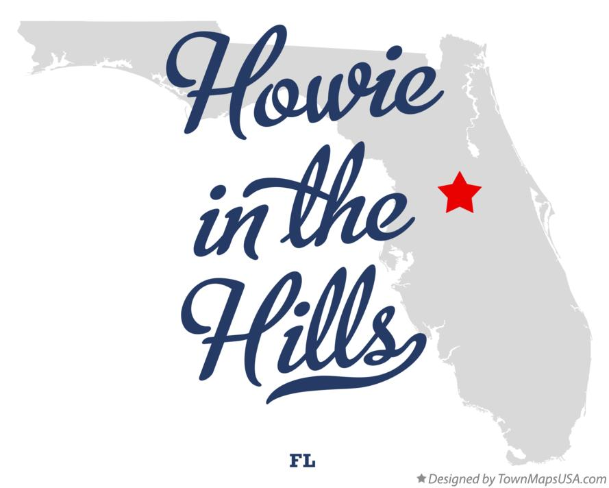 Map of Howie In The Hills Florida FL