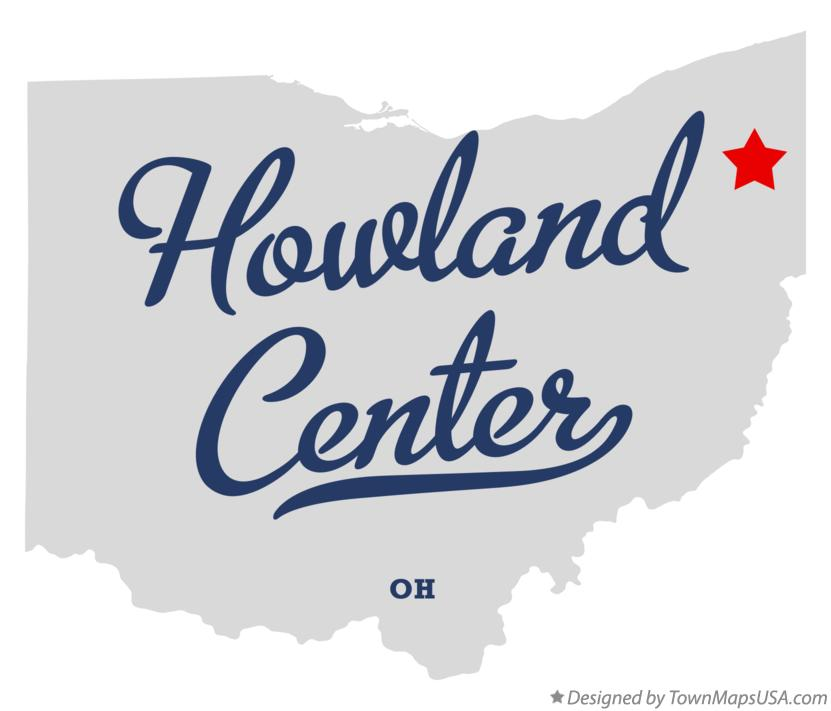 Map of Howland Center Ohio OH