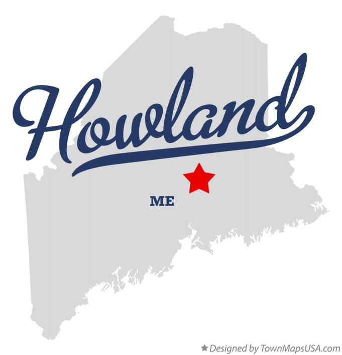 Map of Howland Maine ME