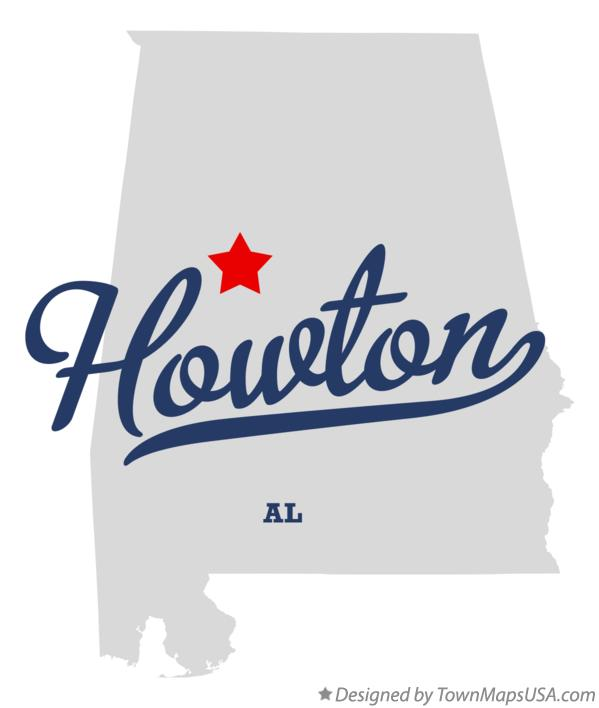 Map of Howton Alabama AL
