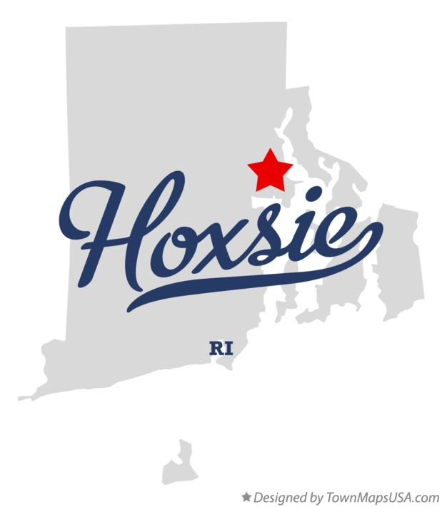 Map of Hoxsie Rhode Island RI