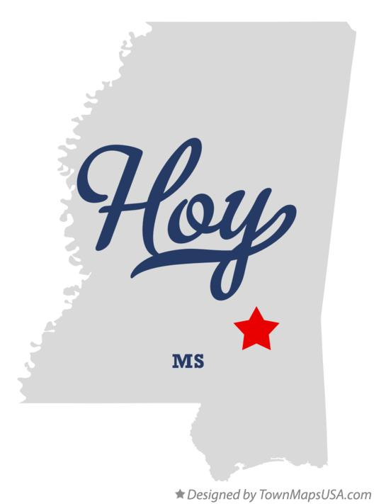 Map of Hoy Mississippi MS