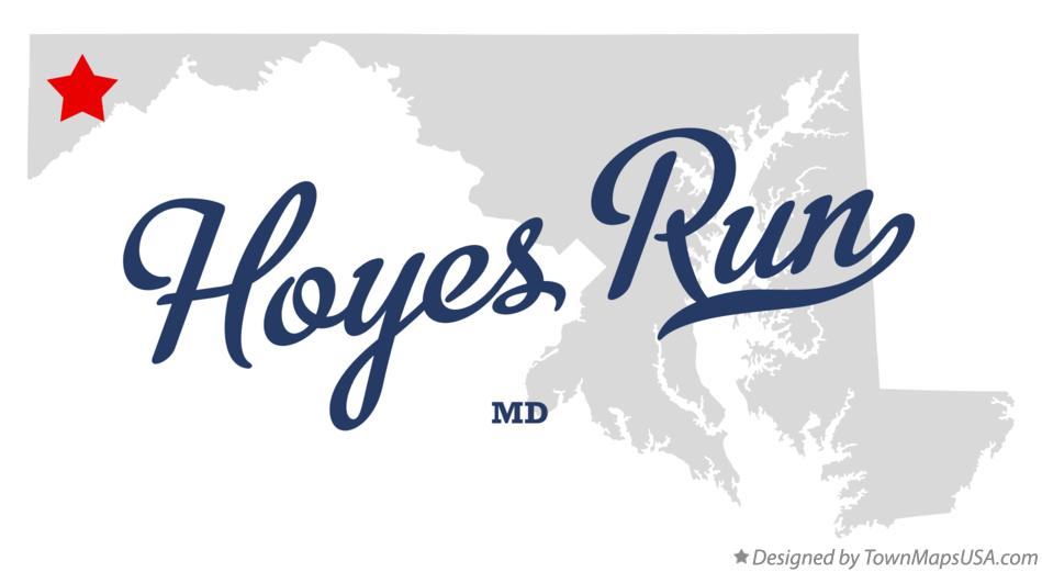 Map of Hoyes Run Maryland MD