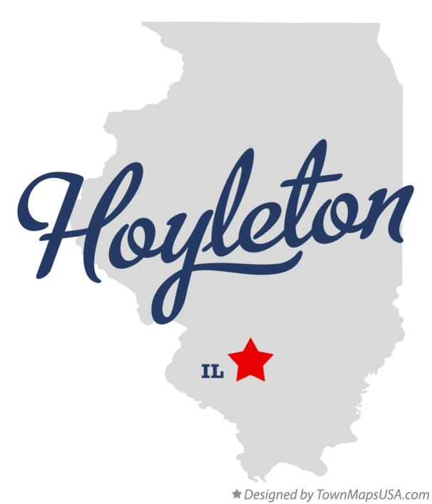 Image result for hoyleton, il map