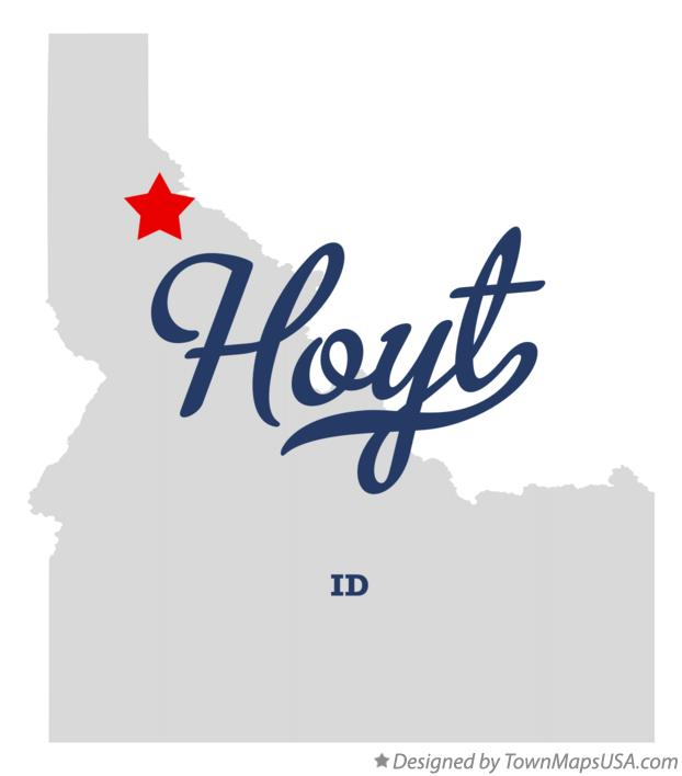 Map of Hoyt Idaho ID