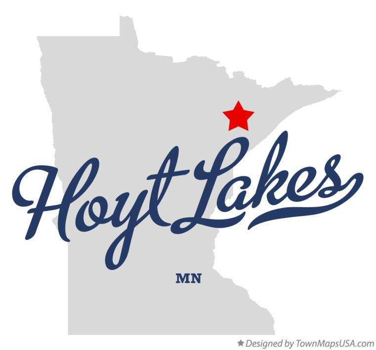 Map of Hoyt Lakes Minnesota MN