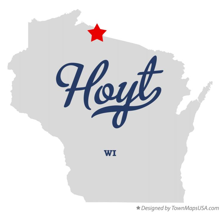 Map of Hoyt Wisconsin WI