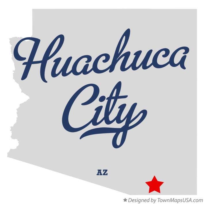 Map of Huachuca City Arizona AZ