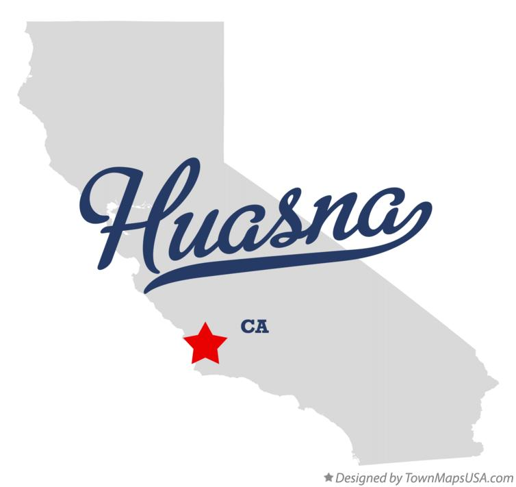Map of Huasna California CA